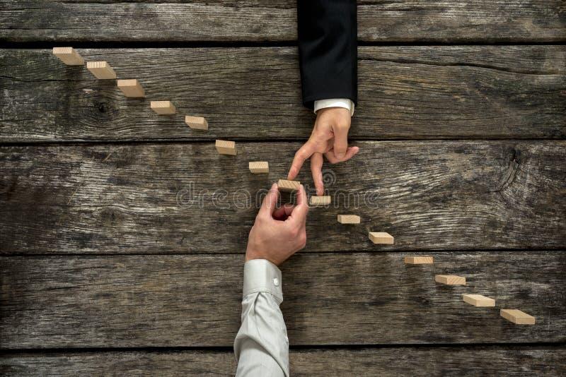 Begreppsmässig bild av affärspartnerskap och service