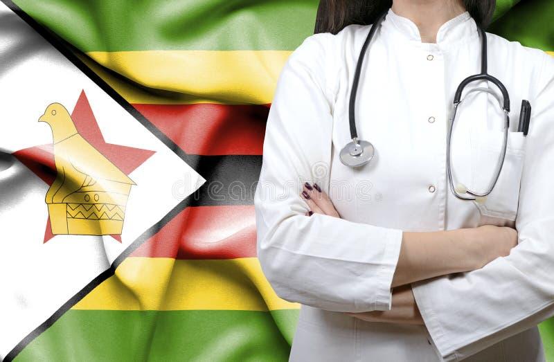 Begreppsmässig bild av den nationella vårdsystemet i Zimbabwe arkivfoto