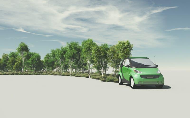 Begreppsmässig bild av en liten bil vektor illustrationer