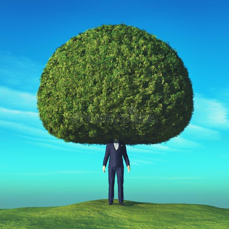 Begreppsmässig bild av ett träd vektor illustrationer