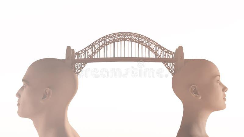 Begreppsmässig bro över vatten royaltyfria bilder