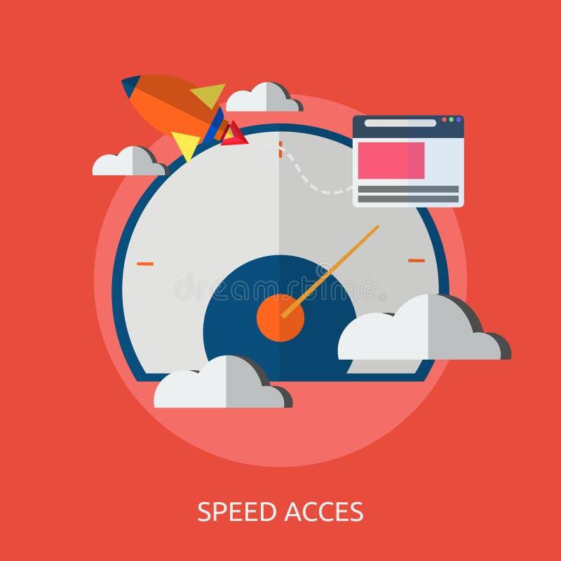 Begreppsmässig design för hastighet och för tillträde arkivfoton