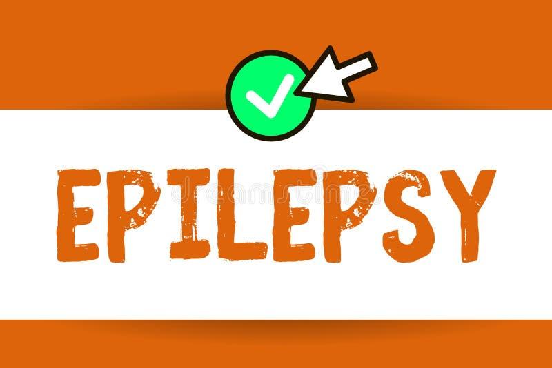 Begreppsmässig epilepsi för handhandstilvisning Beslag för neurological oordning för affärsfototext fjärde mest gemensam oförutsä royaltyfri illustrationer