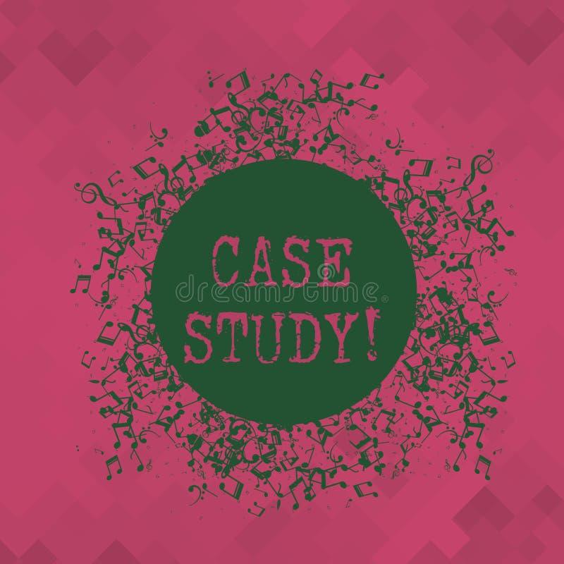 Begreppsmässig fallstudie för handhandstilvisning Rekord för affärsfototext av forskning in i utveckling av detaljen stock illustrationer