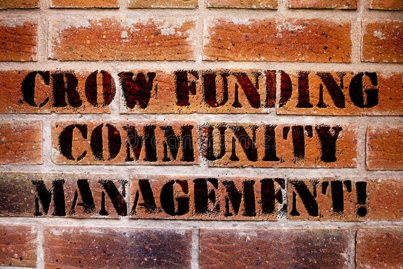 Begreppsmässig galande för handhandstilvisning som betalar gemenskapledning Investeringar för projekt för fond för företag för af arkivfoto