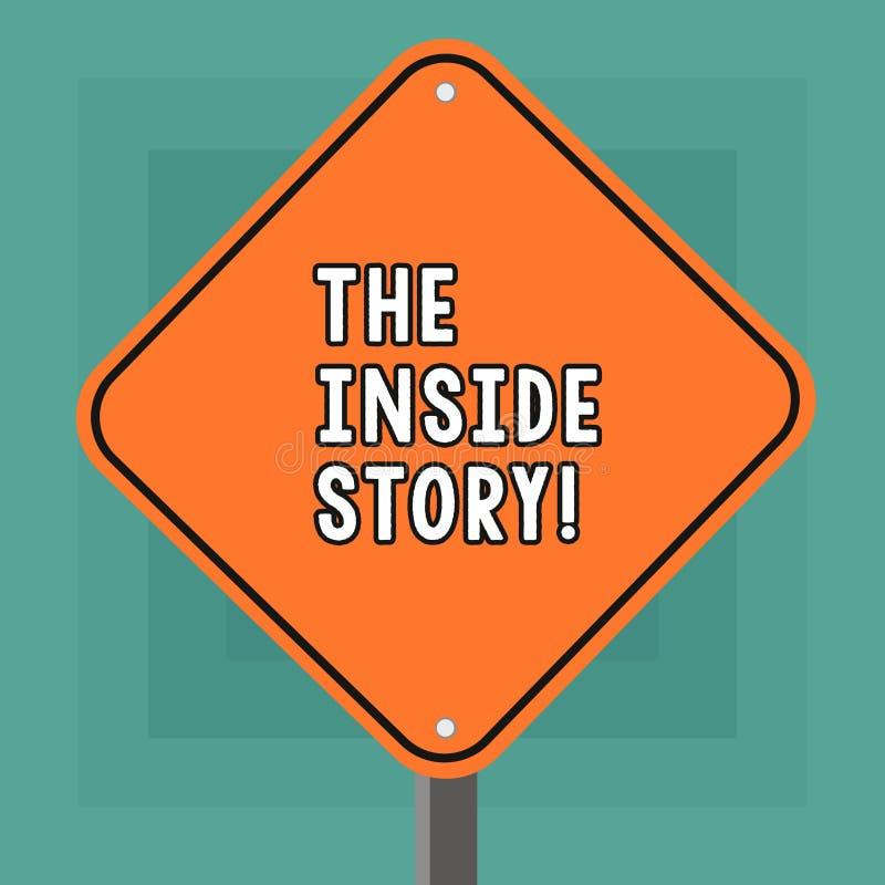 Begreppsmässig handhandstil som visar den inre berättelsen Affärsfoto som ställer ut information som är bekant uppvisning endast stock illustrationer