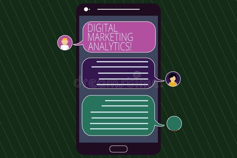 Begreppsmässig handhandstil som visar Digital som marknadsför Analytics Metrik för affär för mått för affärsfototext som trafik o royaltyfria foton