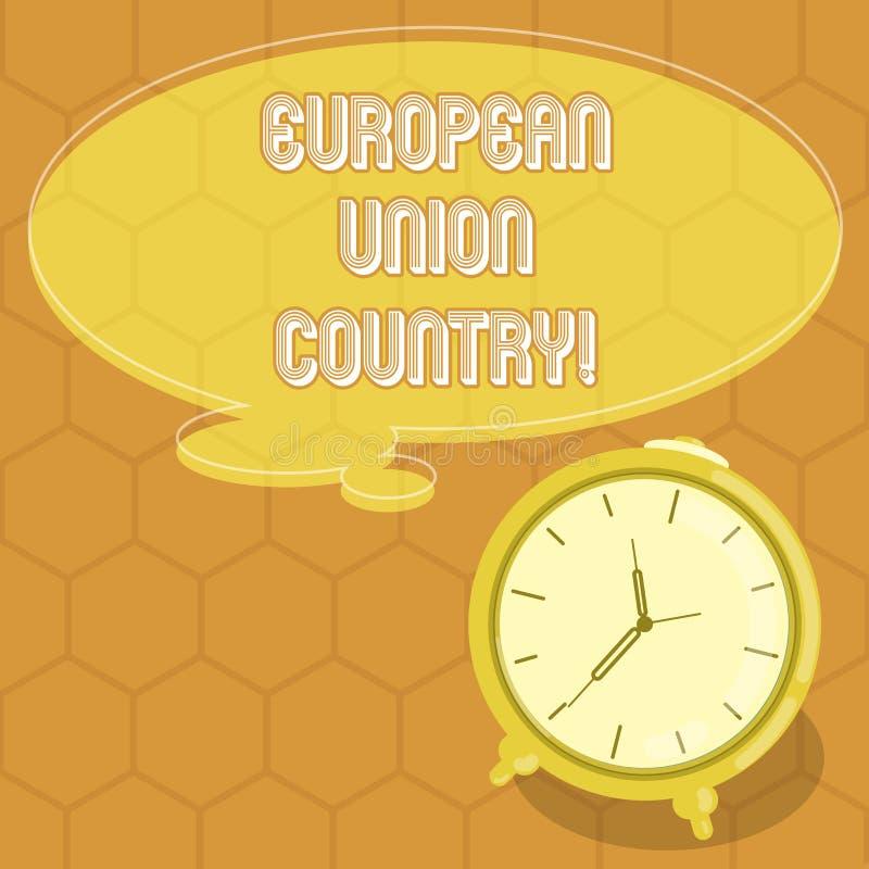 Begreppsmässig handhandstil som visar landet för europeisk union Tillstånd eller länder för affärsfototext som lokaliserade i för vektor illustrationer