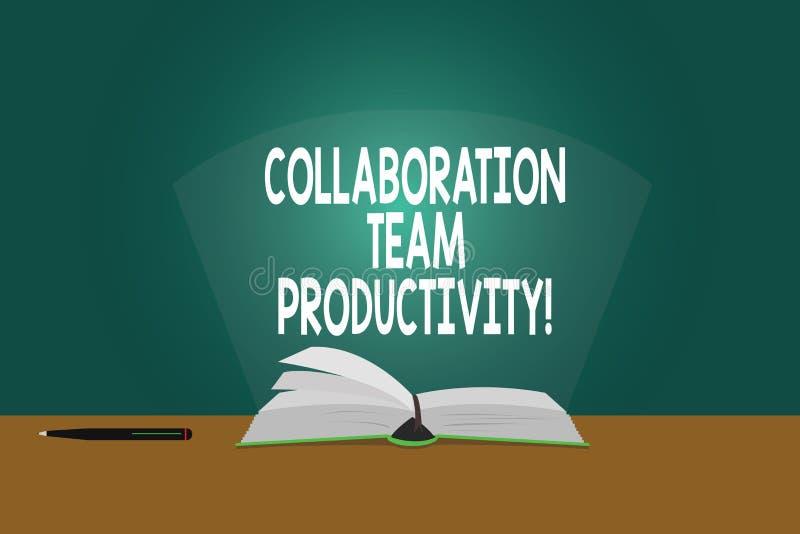 Begreppsmässig handhandstil som visar samarbete Team Productivity Affärsfoto som ställer ut fastställda lagmål för att nå vektor illustrationer
