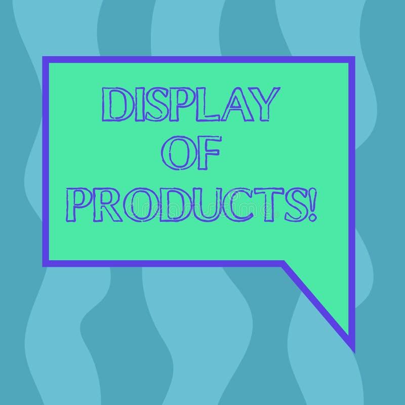 Begreppsmässig handhandstil som visar skärm av produkter Affärsfoto som ställer ut vägen för att tilldra och locka köpande allmän vektor illustrationer