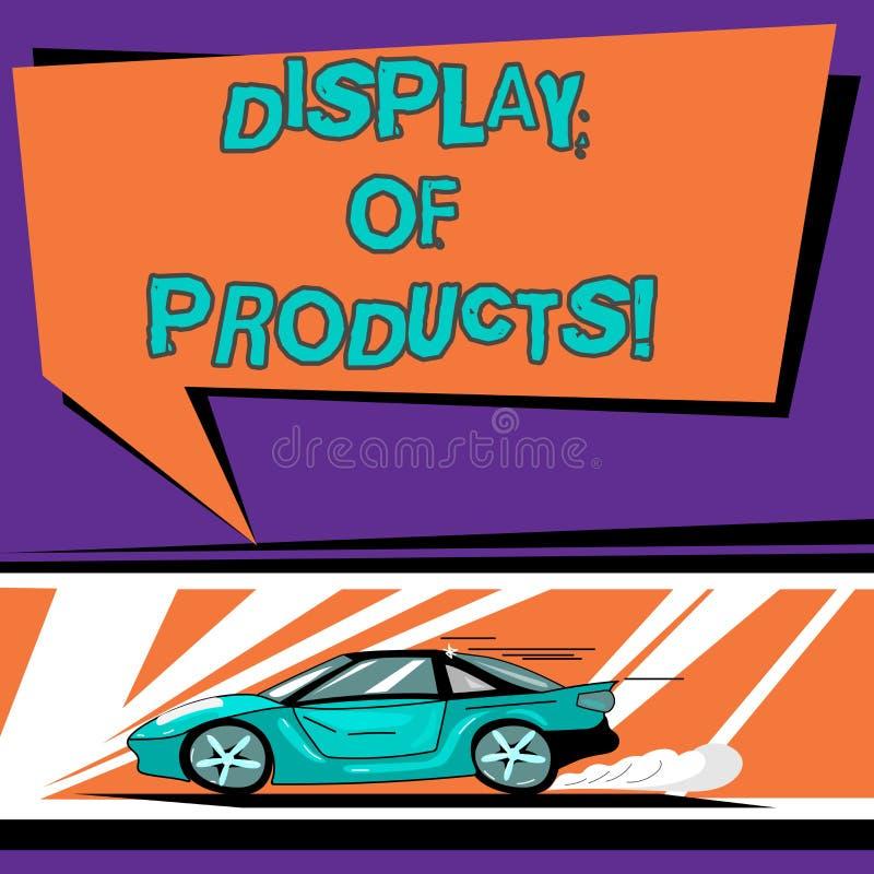 Begreppsmässig handhandstil som visar skärm av produkter Väg för affärsfototext att tilldra och locka köpande allmänhet som använ vektor illustrationer