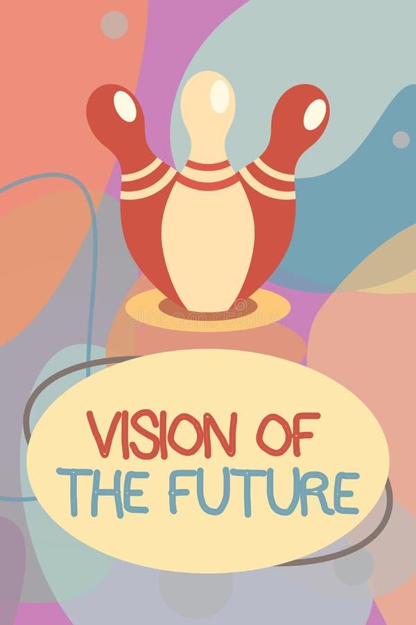 Begreppsmässig handhandstil som visar vision av framtiden Affärsfototext som ser något framåt en klar handbok av handling vektor illustrationer