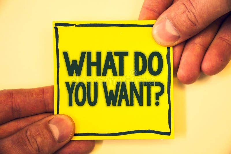 Begreppsmässig handhandstilvisning vad dig önskar fråga Behov för begrundande för ambitionen för affärsfototext beskådar aspirera arkivbilder
