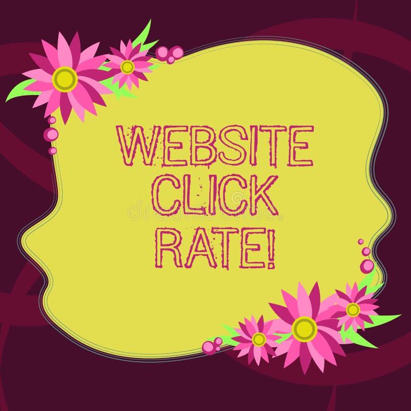 Begreppsmässig hastighet för klick för Website för handhandstilvisning Affärsfoto som ställer ut förhållandeanvändare som klickar stock illustrationer
