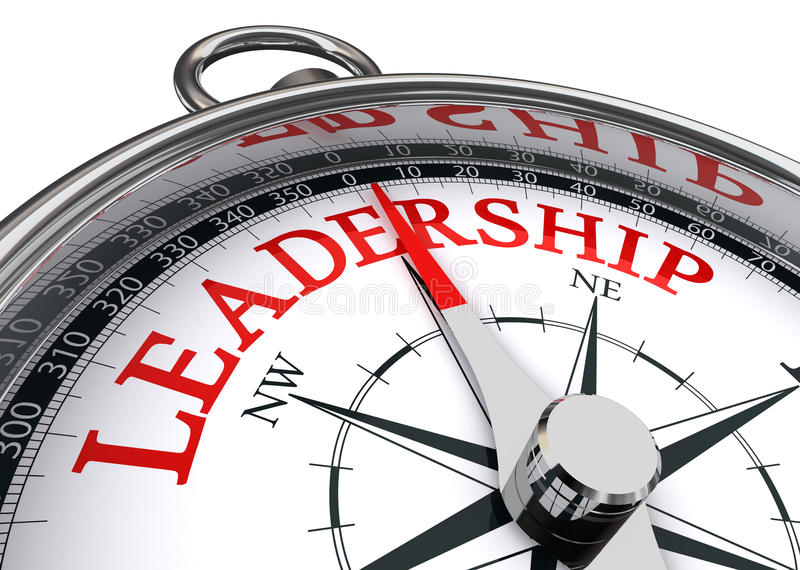 Begreppsmässig kompass för ledarskap royaltyfri illustrationer