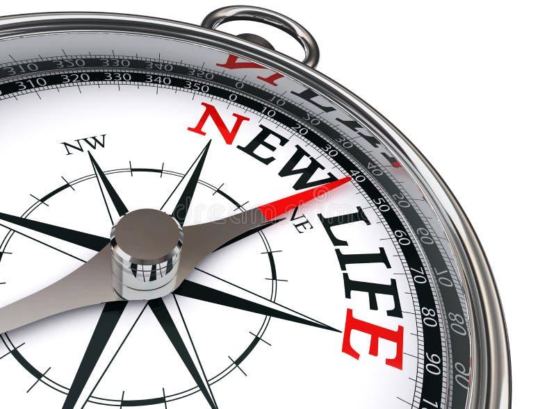 Begreppsmässig kompass för nytt liv vektor illustrationer