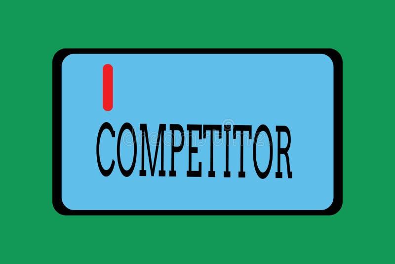 Begreppsmässig konkurrent för handhandstilvisning Affärsfoto som ställer ut personen som tar delen i sportslig strid vektor illustrationer