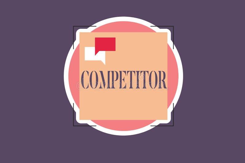 Begreppsmässig konkurrent för handhandstilvisning Person för affärsfototext som tar delen i reklamfilm för sportslig strid stock illustrationer