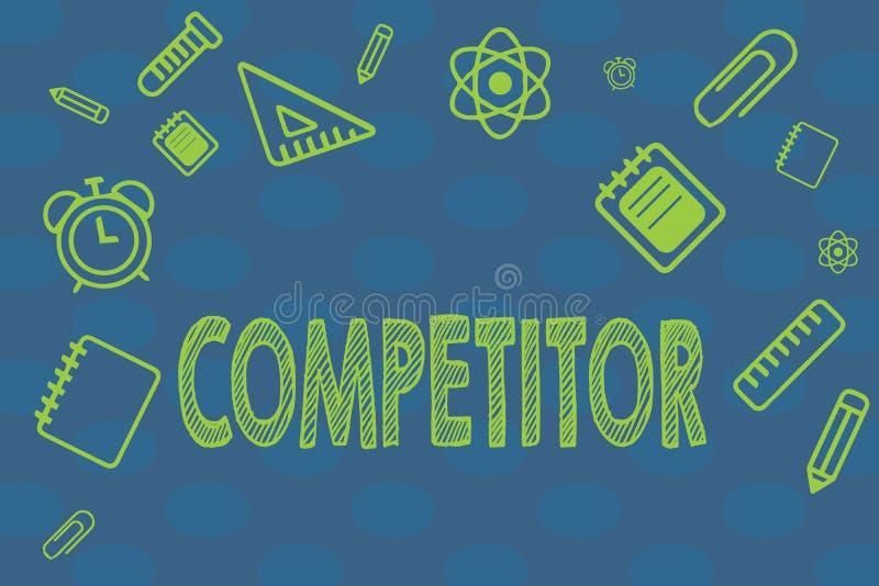 Begreppsmässig konkurrent för handhandstilvisning Person för affärsfototext som tar delen i reklamfilm för sportslig strid royaltyfri illustrationer