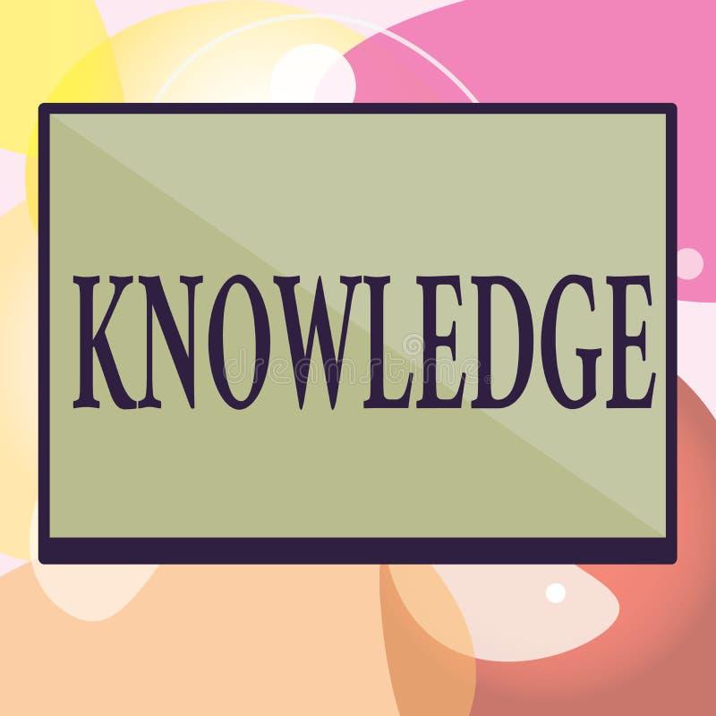 Begreppsmässig kunskap för handhandstilvisning Expertis för information om fakta för affärsfototext som fås till och med erfarenh vektor illustrationer