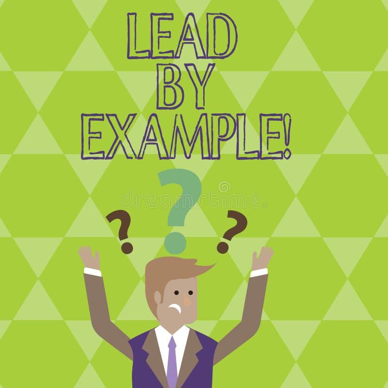 Begreppsmässig ledning för handhandstilvisning vid exempel Affärsfoto som ställer ut organisation för ledarskapledningmentor vektor illustrationer