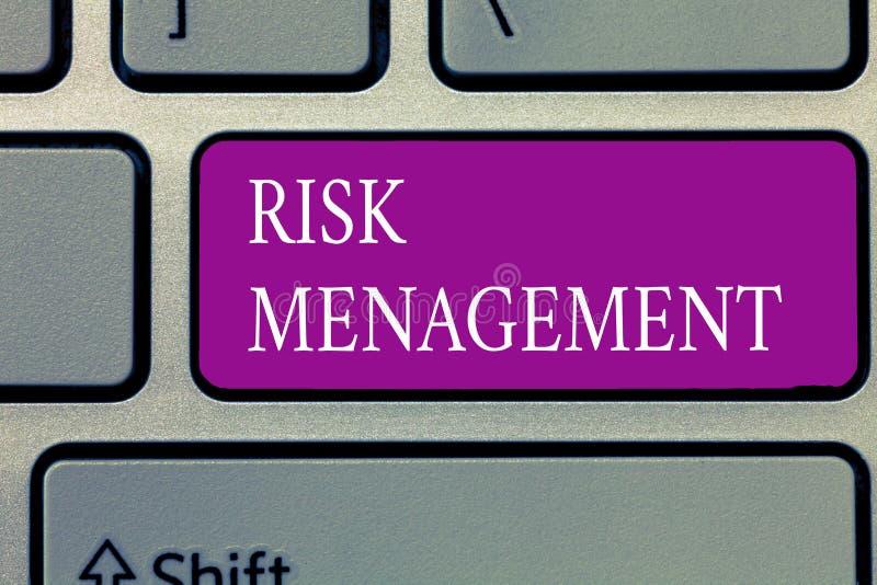 Begreppsmässig ledning för risk för handhandstilvisning Utvärdering för affärsfototext av finansiella faror eller problem med royaltyfri fotografi