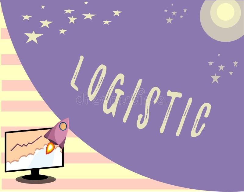 Begreppsmässig logistisk handhandstiluppvisning Försiktig organisation för affärsfototext av den invecklade aktivitetsplanläggnin vektor illustrationer