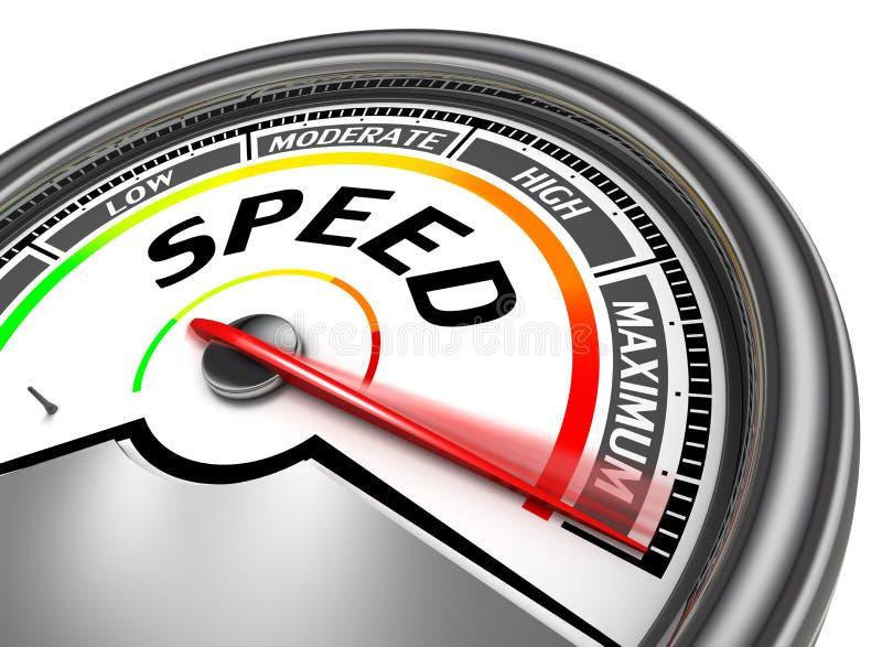 Begreppsmässig meter för hastighet stock illustrationer