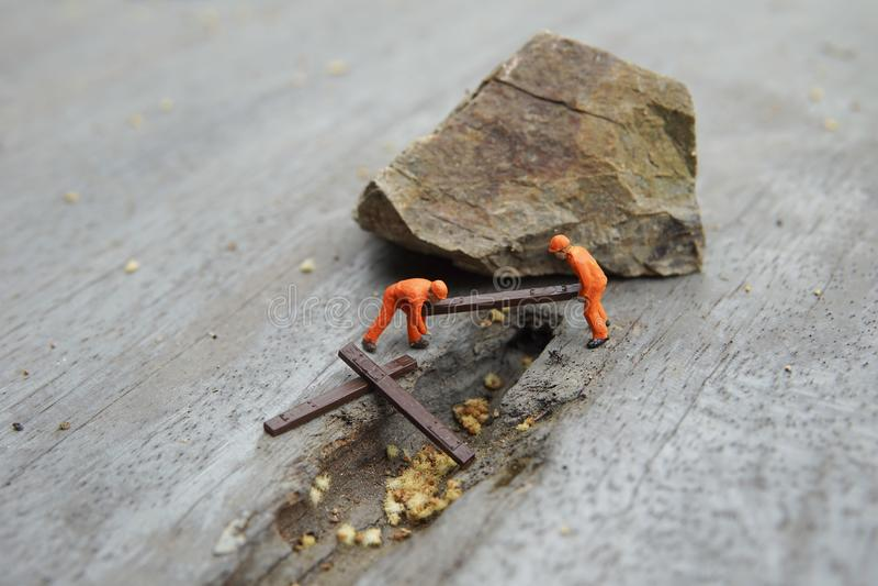 Begreppsmässig miniatyr arkivfoto