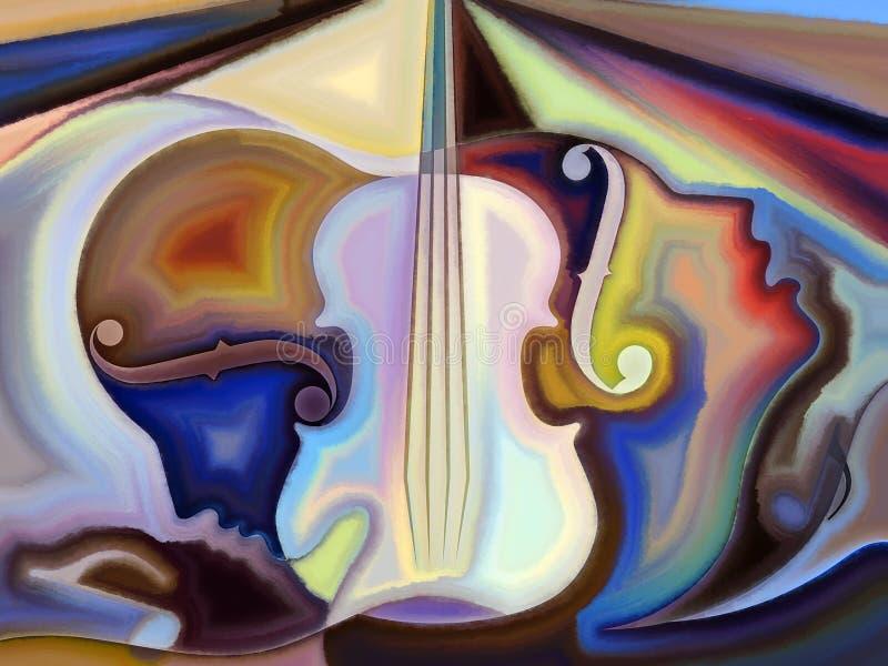 Begreppsmässig musik royaltyfri illustrationer
