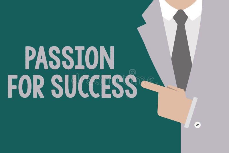 Begreppsmässig passion för handhandstilvisning för framgång Etik för ande för motivation för drev för iver för entusiasm för affä royaltyfri illustrationer