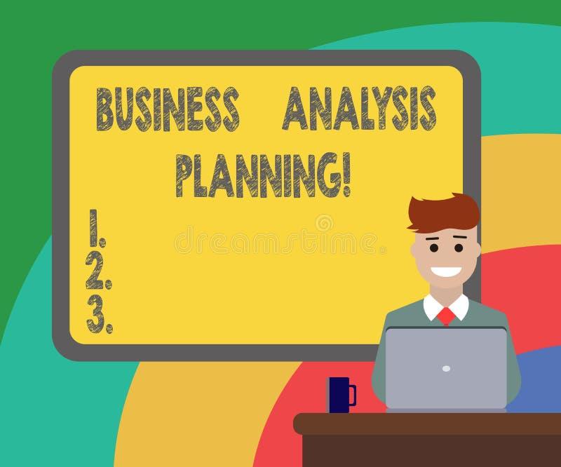 Begreppsmässig planläggning för analys för affär för handhandstilvisning Affärsfoto som ställer ut samlingen av uppgifter som beh vektor illustrationer