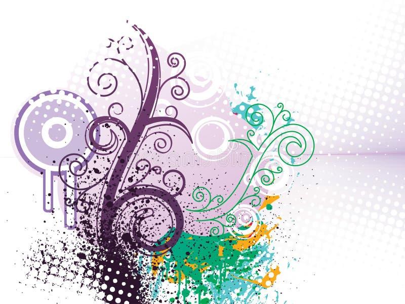 begreppsmässig räkningsdiagramwallpaper royaltyfri illustrationer