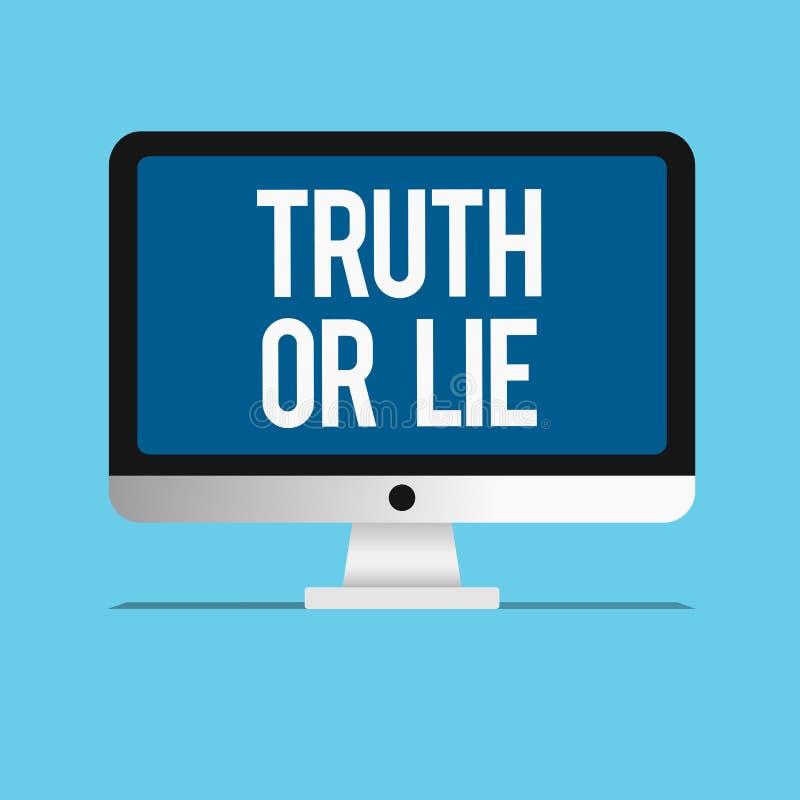 Begreppsmässig sanning eller lögn för handhandstilvisning Affärsfoto som ställer ut beslut mellan att vara ärligt ohederligt val vektor illustrationer