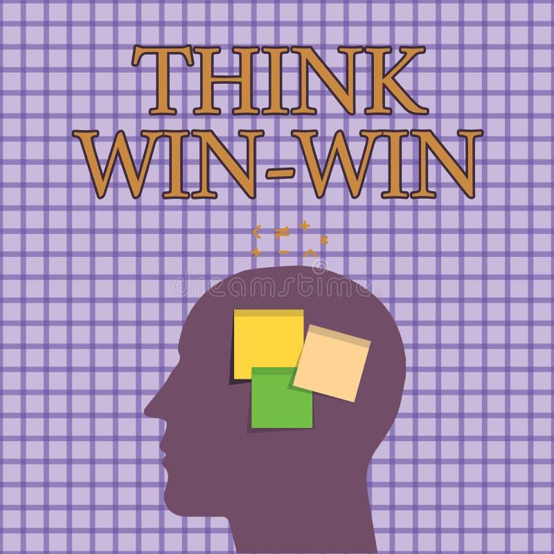 Begreppsmässig seger för seger för funderare för handhandstilvisning Affärsfotoet som ställer ut överenskommelser, eller lösninga stock illustrationer