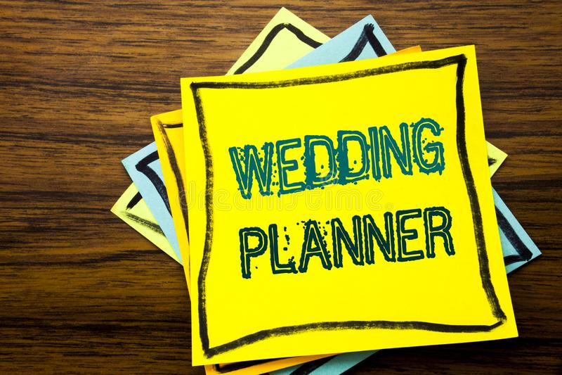 Begreppsmässig stadsplanerare för bröllop för visning för inspiration för överskrift för handhandstiltext Affärsidé för förbindel arkivbilder