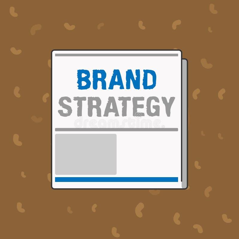 Begreppsmässig strategi för märke för handhandstilvisning Service för marknadsföring för affärsfototext långsiktig för en produkt stock illustrationer