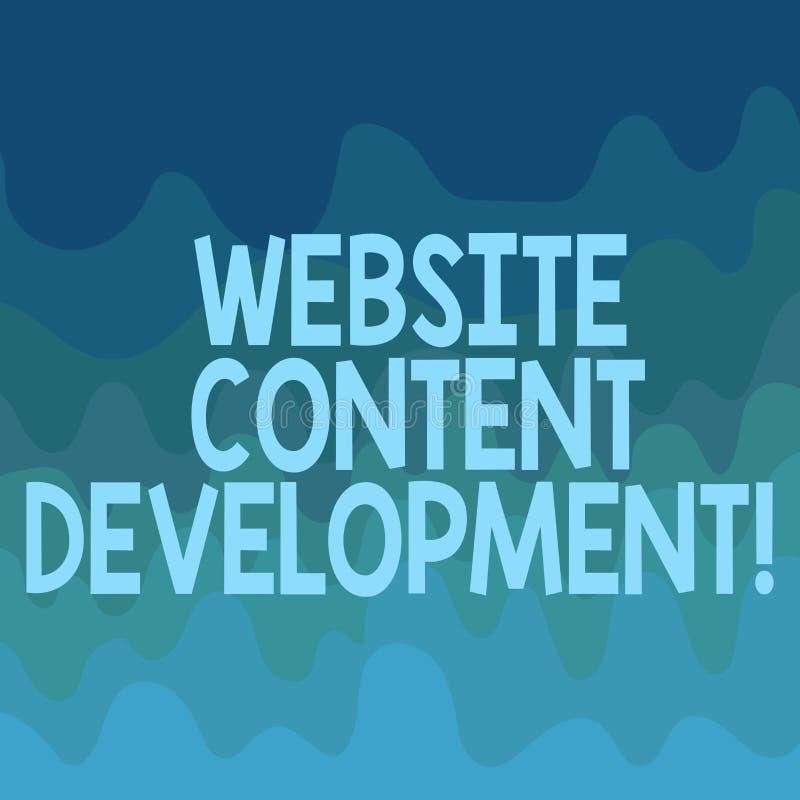 Begreppsmässig utveckling för innehåll för Website för handhandstilvisning Process för affärsfototext av att utfärda information  vektor illustrationer