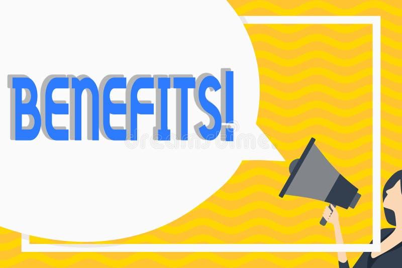 Begreppsmässiga fördelar för handhandstilvisning Affärsfoto som ställer ut vandring i avdrag och lönen för höga anställda av vektor illustrationer