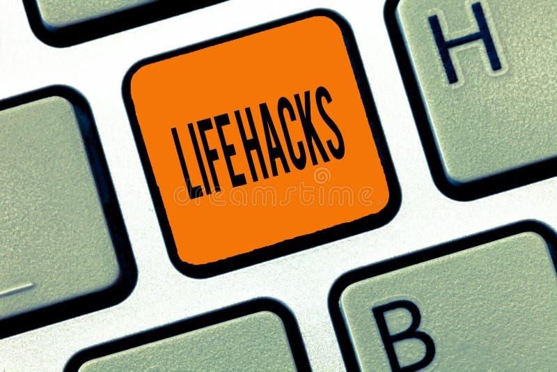 Begreppsmässiga hackor för liv för handhandstilvisning Teknik för strategi för affärsfototext till dagliga aktiviteter för analys arkivfoton