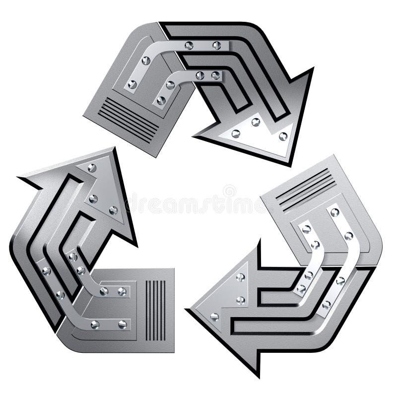 begreppsmässigt återanvändande symbol stock illustrationer