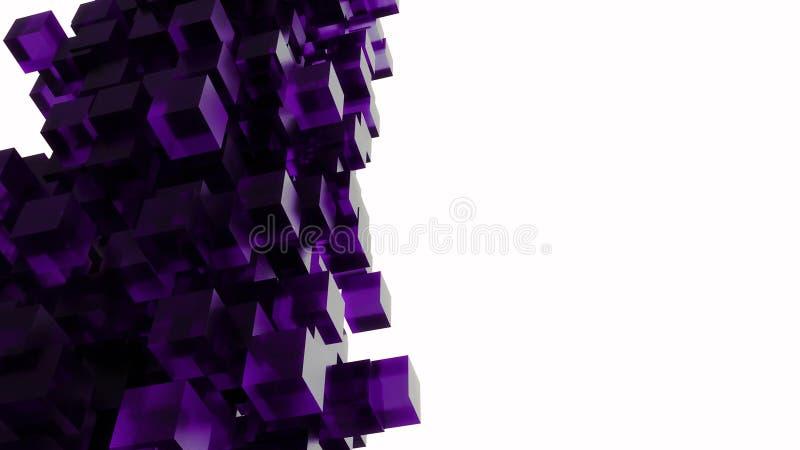 Begreppsmässigt abstrakt begrepp 3D skära i tärningar tema arkivfoto