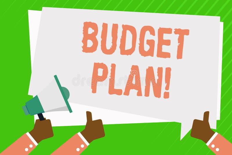 Begreppsmässigt plan för budget för handhandstilvisning Affärsfoto som ställer ut bedömningen av inkomst och förbrukning för fast royaltyfri illustrationer