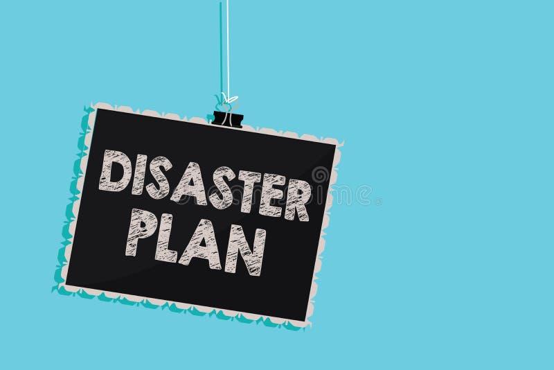 Begreppsmässigt plan för katastrof för handhandstilvisning Att ställa ut för affärsfoto reagerar till nöd- beredskapöverlevnad oc royaltyfri illustrationer