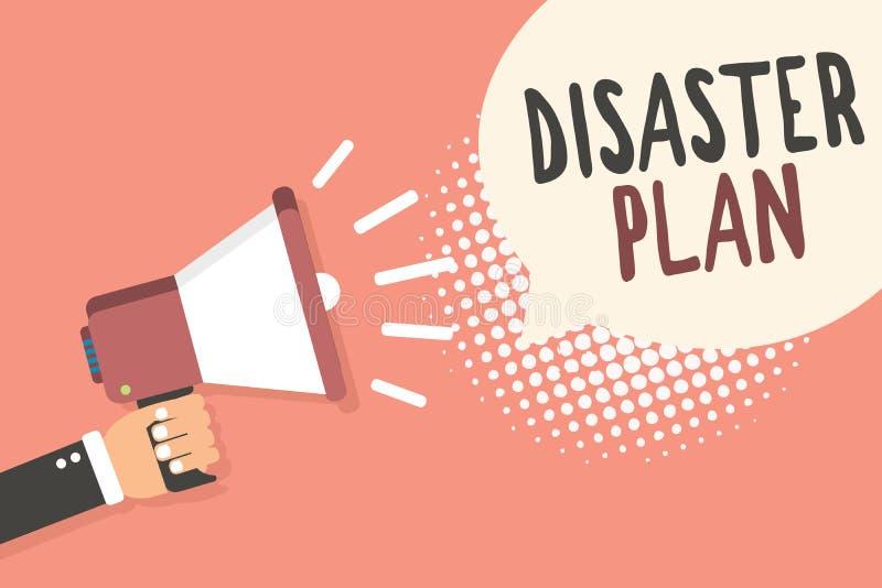 Begreppsmässigt plan för katastrof för handhandstilvisning Att ställa ut för affärsfoto reagerar till nöd- beredskapöverlevnad oc stock illustrationer