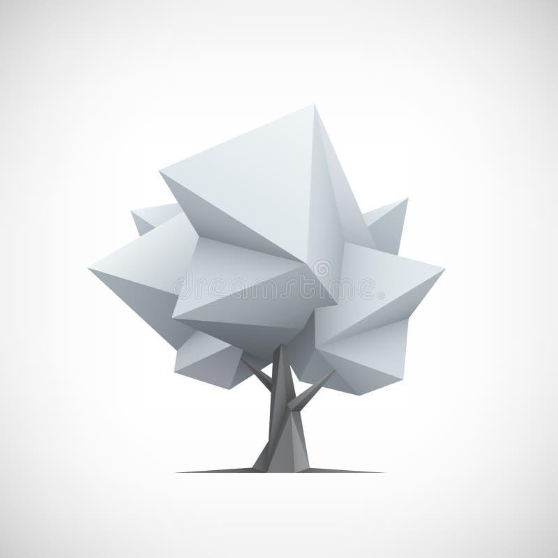 Begreppsmässigt polygonal träd Abstrakt vektor vektor illustrationer