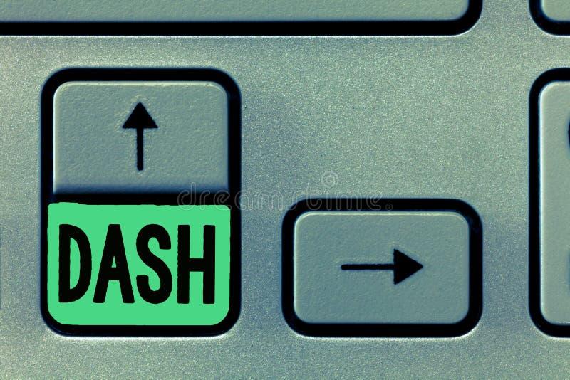Begreppsmässigt streck för handhandstilvisning Kassa för första digitala valuta för affärsfototext decentraliserade Digital block royaltyfria bilder