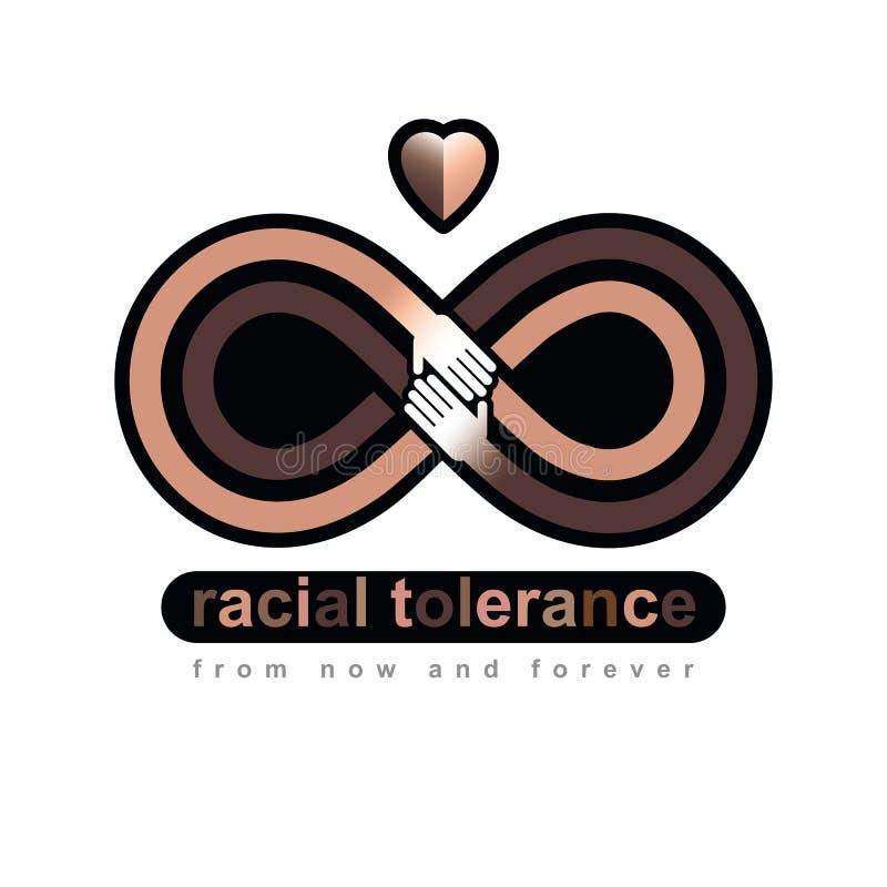 Begreppsmässigt symbol för ras- tolerans, Martin Luther King Day som är noll royaltyfri illustrationer