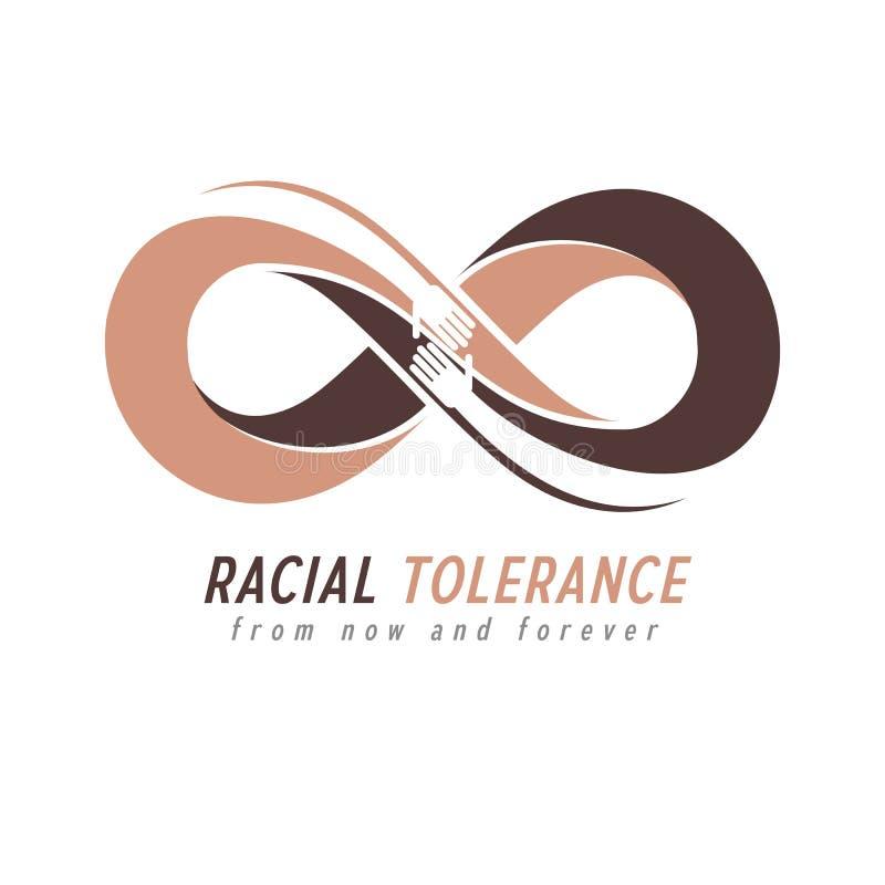 Begreppsmässigt symbol för ras- tolerans, Martin Luther King Day som är noll stock illustrationer