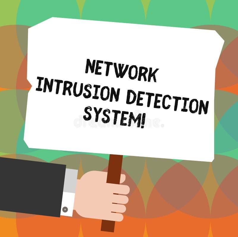 Begreppsmässigt system för upptäckt för inhopp för nätverk för handhandstilvisning Affärsfoto som ställer ut säkerhetssäkerhetsmu vektor illustrationer